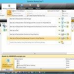 Veritas Backup exec, console de admnistração de backup, restore