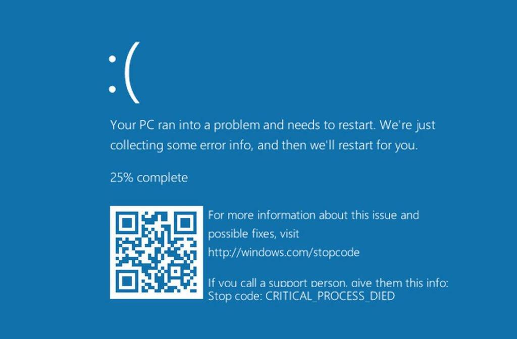 Nova Tela Azul da Morte da Microsoft pode ser ainda pior