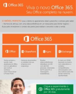 Office 365, leve o cliente no imóvel ideal e preencha online o contrato