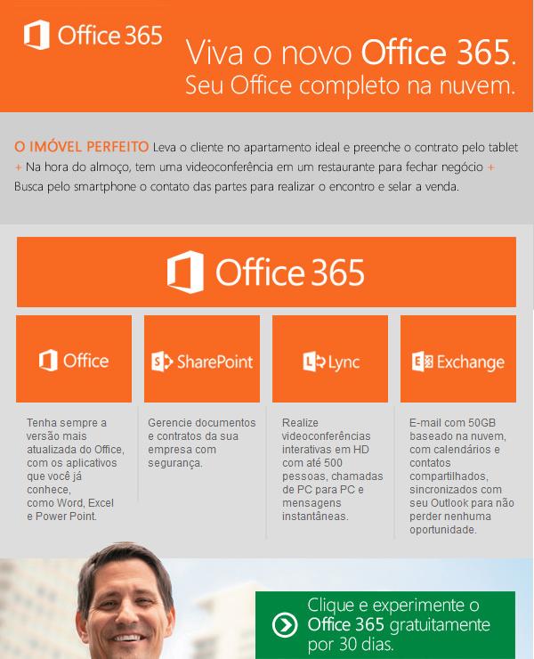 Viva o novo Office 365, preencha contratos de forma fácil e online