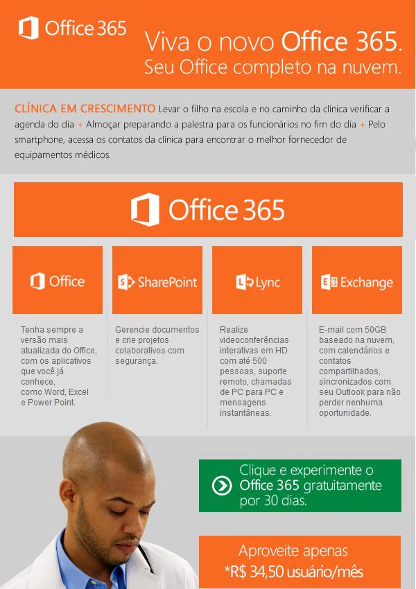 Novo Office 365, mantendo sua clínica acessível a qualquer momento