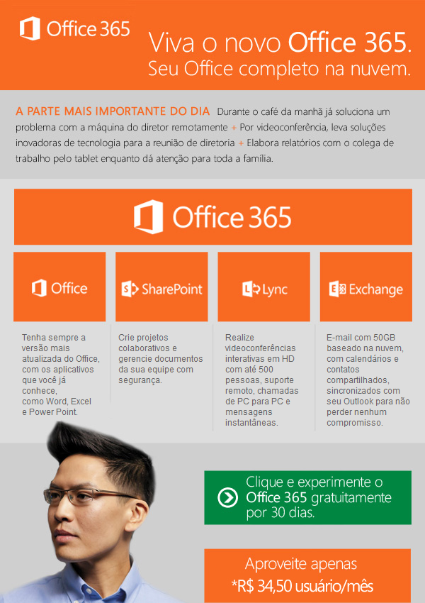 Novo Office 365, seu ambiente de TI sob controle