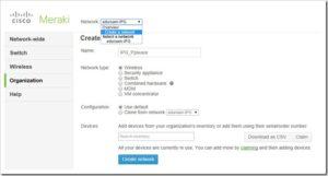 Criando redes com Cisco Meraki